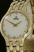 Pre-Owned CONCORD LES PALAIS 14KT GOLD MOP DIAL