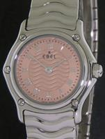Pre-Owned EBEL WAVE ALL STEEL SALMON DIAL