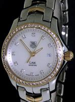Pre-Owned TAG HEUER 18KT GOLD/STEEL DIAMOND BEZEL