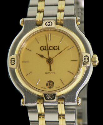 be54c8e14e0 Gucci Two Tone Swiss Quartz 9000l - Pre-Owned Ladies Watches