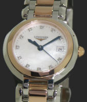Pre-Owned LONGINES 18KT ROSE GOLD AND STEEL