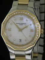 Pre-Owned BAUME & MERCIER 18KT GOLD AND STEEL RIVIERA