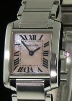 Pre-Owned CARTIER TANK FRANCAISE MOTHER-OF-PEARL