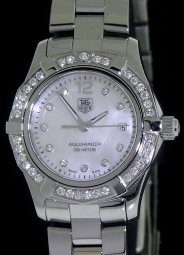 01b6d1c7dcf Tag Heuer Aquaracer With Diamonds waf1416.ba0813 - Pre-Owned Ladies Watches