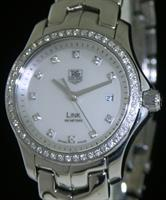 Pre-Owned TAG HEUER LINK DIAMOND MOP DIAL & BEZEL
