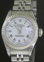 Pre-Owned ROLEX DATE WHITE ROMAN DIAL