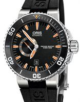 Pre-Owned ORIS AQUIS ORANGE SMALL SECOND DATE