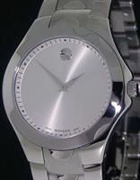 Pre-Owned MOVADO LUNO SPORT STEEL SILVER DIAL