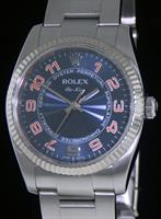 Pre-Owned ROLEX AIR-KING BLUE AND ORANGE DIAL