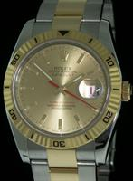 Pre-Owned ROLEX TURN-O-GRAPH 18KT/SS CHAMPAGNE