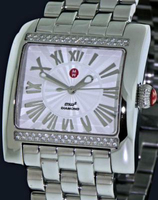 Pre-Owned MICHELE MW2 SQUARE WITH DIAMONDS