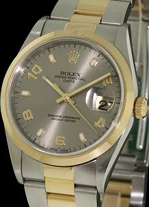 Pre-Owned ROLEX 18KT GOLD AND STEEL DATE