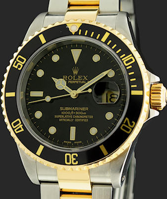 Pre-Owned ROLEX SUBMARINER 18KT & STEEL BLACK