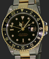 Pre-Owned ROLEX OYSTER GMT-MASTER II 18KT/SS
