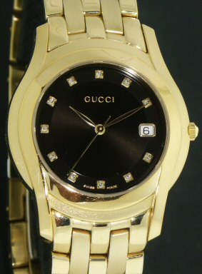 Pre-Owned GUCCI 5400M W/DIAMONDS