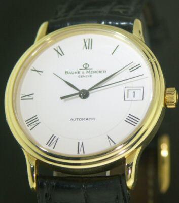 baume mercier 18kt gold auto 211 10961 pre owned mens watches. Black Bedroom Furniture Sets. Home Design Ideas