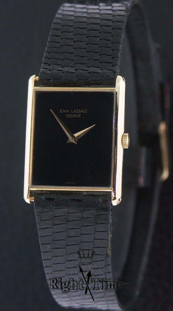 bellezza stile di moda del 2019 varietà di design Jean Lassale Ultra-Thin18kt Gold Wind-Up 929y - Pre-Owned ...