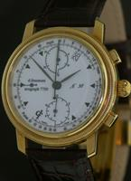 Pre-Owned D.FREEMONT 18KT GOLD CASE CHRONOGRAPH