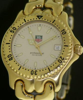 Tag Heuer Sport Elegance Gold Wg1130 Ko Pre Owned Mens