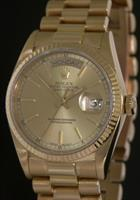 Pre-Owned ROLEX PRESIDENT GOLD CHAMPAGNE DIAL