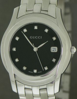 Pre-Owned GUCCI 5500M DIAMOND DIAL