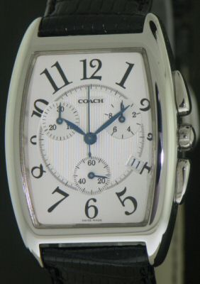 coach swiss quartz chronograph 221 11785 pre owned mens watches