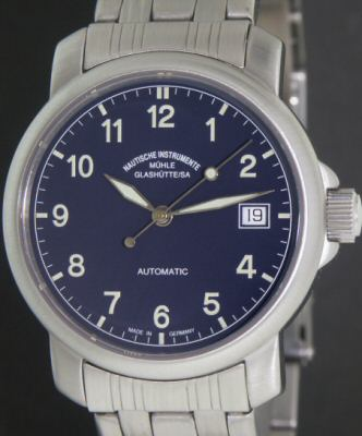 Pre-Owned MUHLE GLASHUTTE JUNIOR BLUE