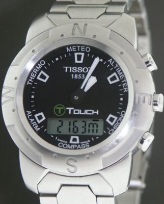 Pre-Owned TISSOT T-TOUCH STAINLESS STEEL BLACK