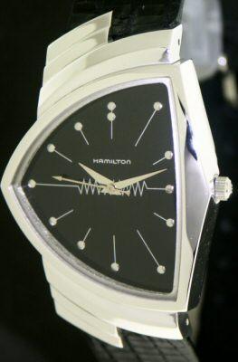 hamilton ventura men in black h24411732 pre owned mens watches