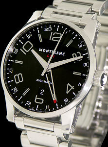 Pre-Owned MONTBLANC TIME WALKER GMT BLACK