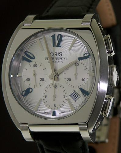 oris frank sinatra chronograph 676 7574 40 61 ls pre owned mens