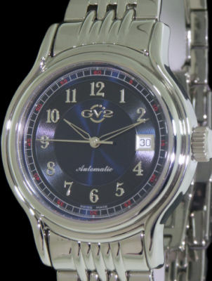 Pre-Owned GEVRIL GV2 DAY/DATE BLUE DIAL