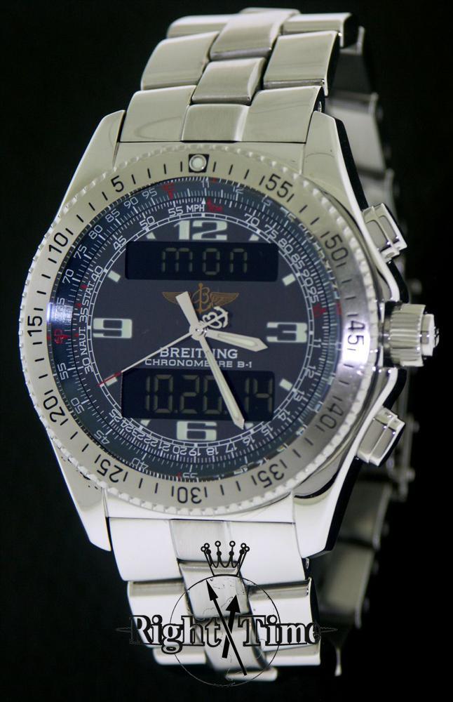 breitling b1 super quartz breitling 78 a78362 pre owned mens watches rh righttime com B1 Breitling with UTC Watches Breitling Navitimer A68062