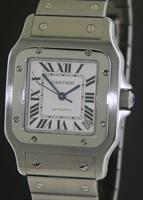 Pre-Owned CARTIER SANTOS AUTOMATIC ALL STEEL