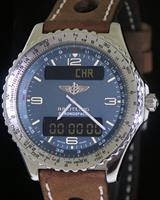 Pre-Owned BREITLING CHRONOSPACE QUARTZ BLUE DIAL