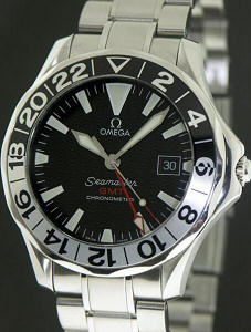 Pre-Owned OMEGA SEAMASTER GMT BLK DIAL