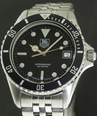 """Pre Owned Factory >> Tag Heuer """"1000"""" Quartz Diver 980.013b - Pre-Owned Mens Watches"""