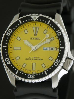 Pre-Owned SEIKO DIVER AUTOMATIC YELLOW