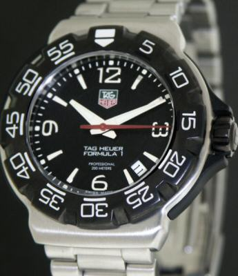 Pre-Owned TAG HEUER FORMULA 1 BLACK DIAL