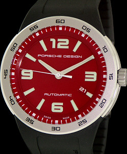 Pre-Owned PORSCHE DESIGN AUTOMATIC RED DIAL