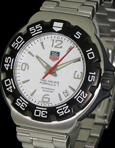 Pre-Owned TAG HEUER FORMULA 1 WHITE MIDSIZE