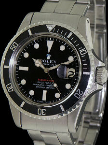 Pre-Owned ROLEX RARE SUBMARINER W/ RED LETTERS