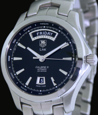 Pre Owned Factory >> Tag Heuer Link Calibre 5 Day Date wjf2010.ba0592 - Pre-Owned Mens Watches