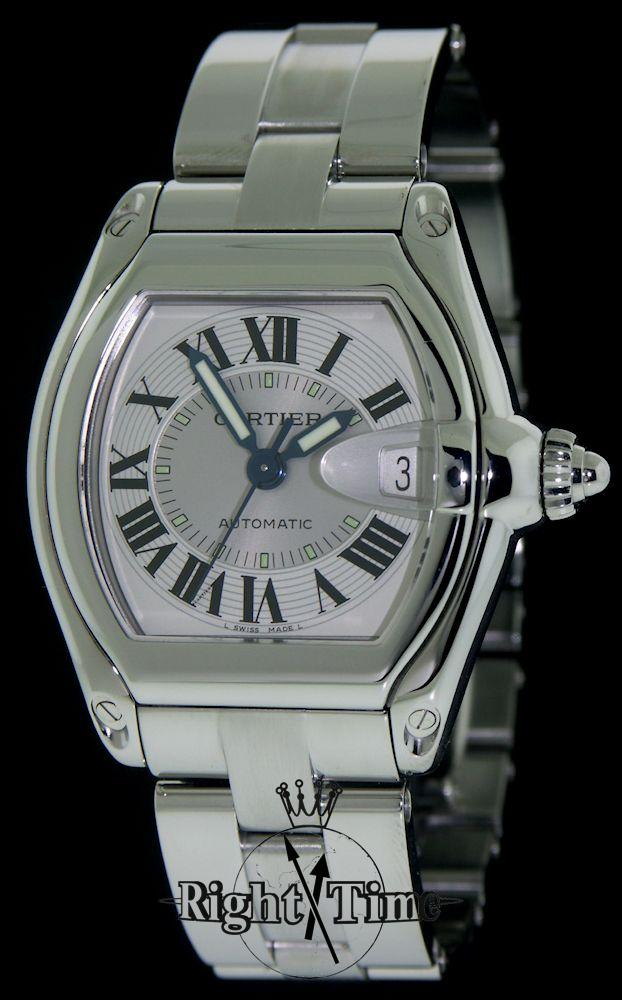cartier roadster large automat w62025v3 pre owned mens