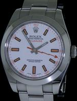 Pre-Owned ROLEX MILGAUSS WHITE DIAL
