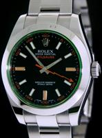 Pre-Owned ROLEX MILGAUSS GREEN CRYSTAL