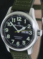 Pre-Owned ERNST BENZ 44MM DAY-DATE GREEN NUMERALS