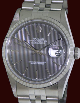 Pre-Owned ROLEX DATEJUST SLATE STRIPE DIAL