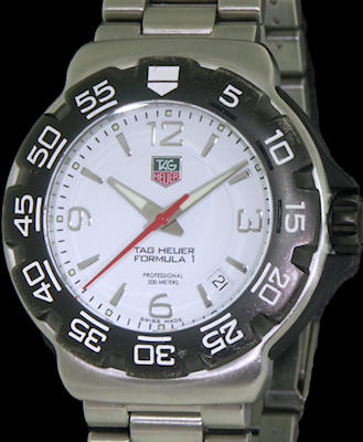 Tag Heuer Formula 1 White Dial wac1111.ba0850 - Pre-Owned ...