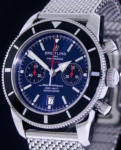 Breitling superocean 42 mariner blue limited edition   world watch.
